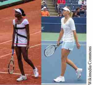 01 Williams & Sharapova