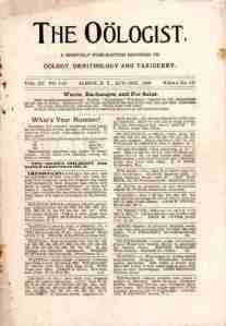 1898 Oologist
