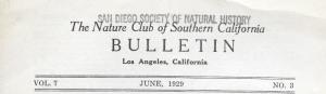 01 Nature club bulletin masthead