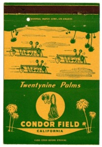 03a Matchbook & Postcard - Condor Field - a