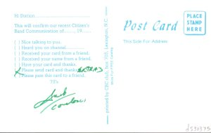 07b Postcard - ham radio - b
