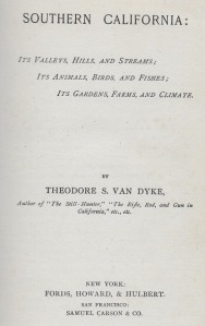 Van Dyke 1886 - title page