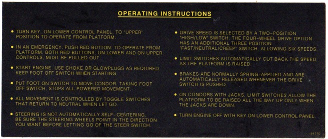 03 Aerial work platform - instructions